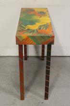 Lot 89: beautiful Mackenzie child style painted entry table