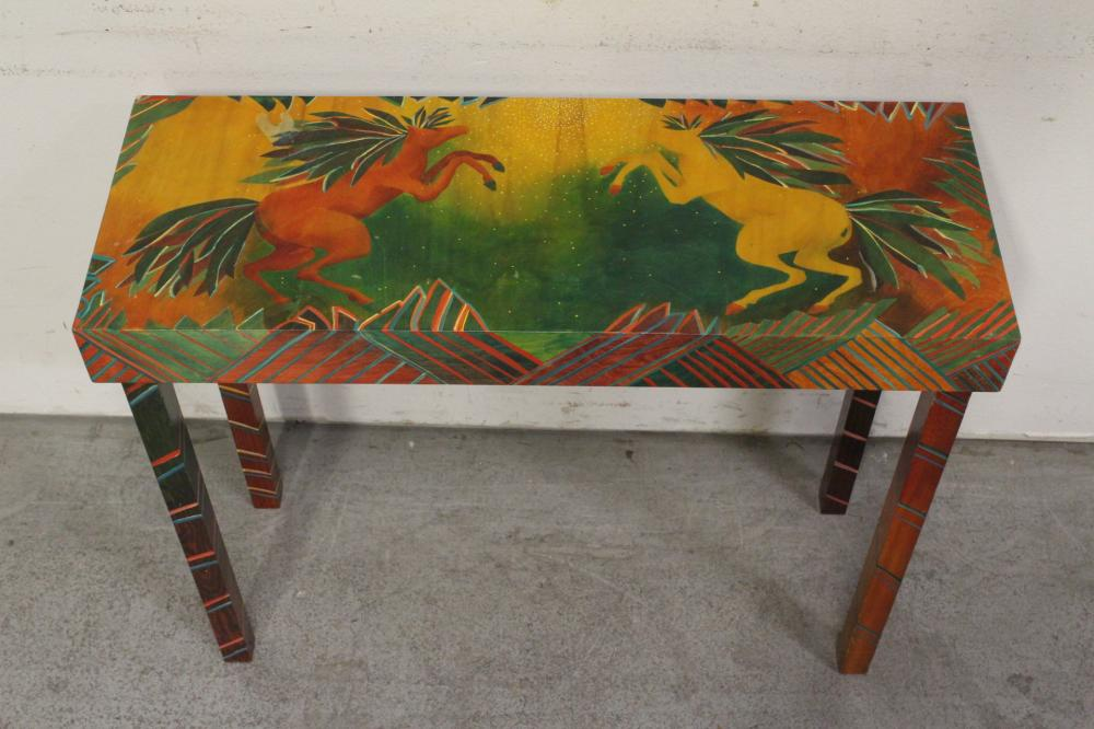 beautiful Mackenzie child style painted entry table