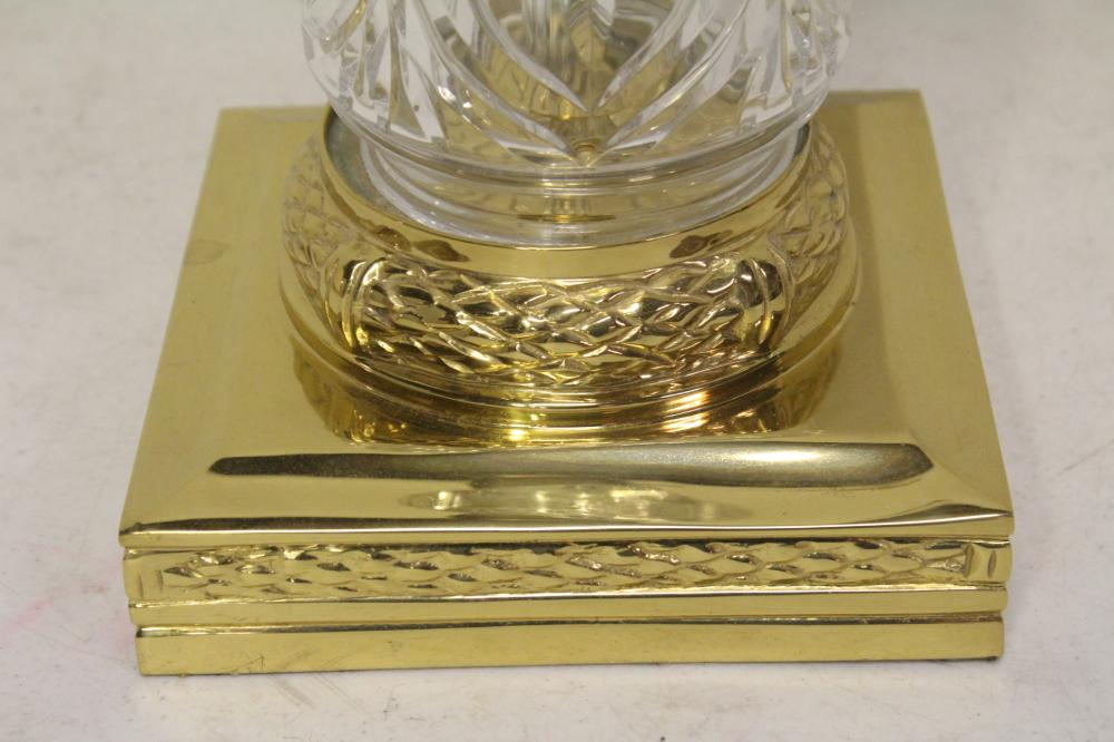 Lot 94: Pair fine crystal table lamps