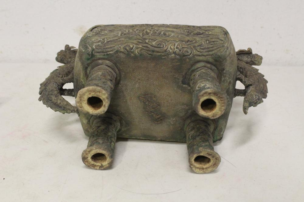 Lot 105: A Chinese pottery covered censer