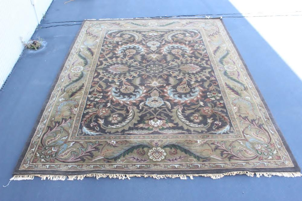A beautiful room size 100% wool hand craft rug