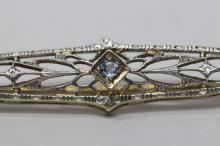 Lot 201: 2 gold Victorian bar pins