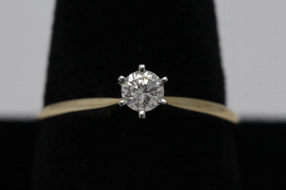 14K Y/G diamond ring