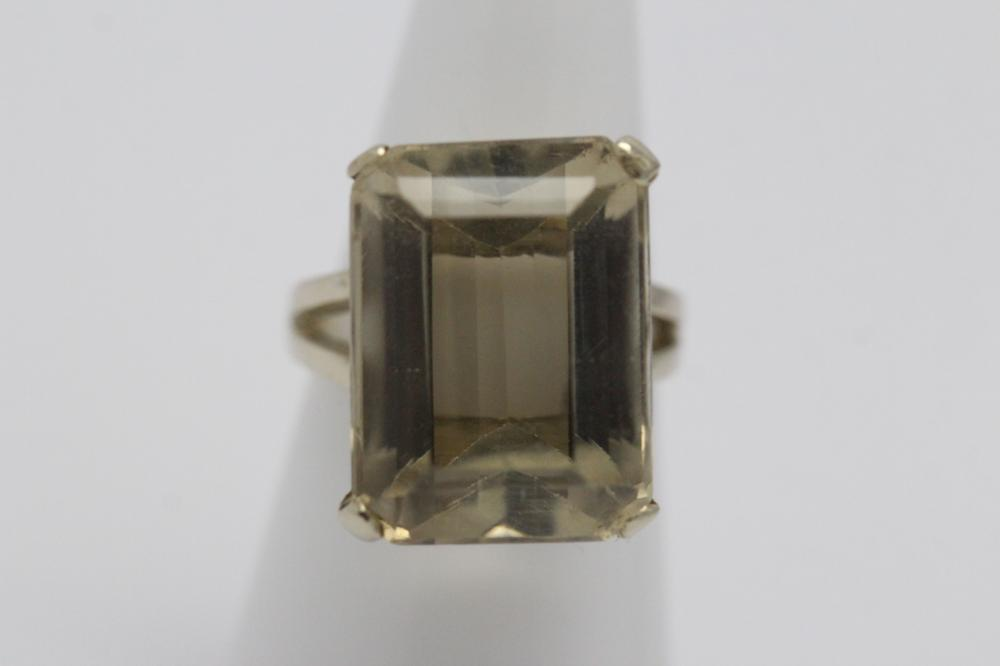14K W/G citrine ring