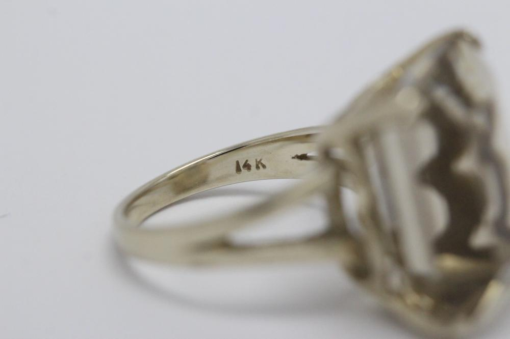 Lot 204: 14K W/G citrine ring