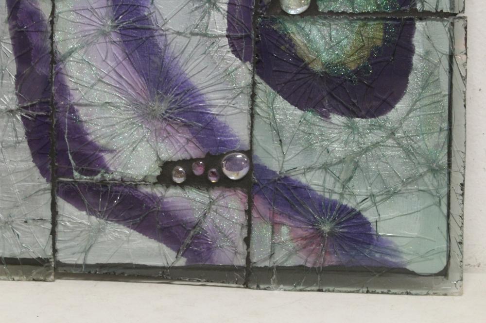 Lot 169: Artist designed art glass panel