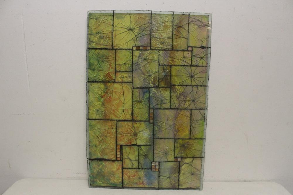 Artist designed art glass panel