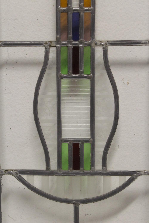 Lot 174: Antique leaded glass window
