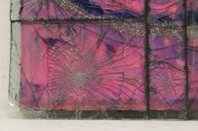 Lot 176: Artist designed art glass panel