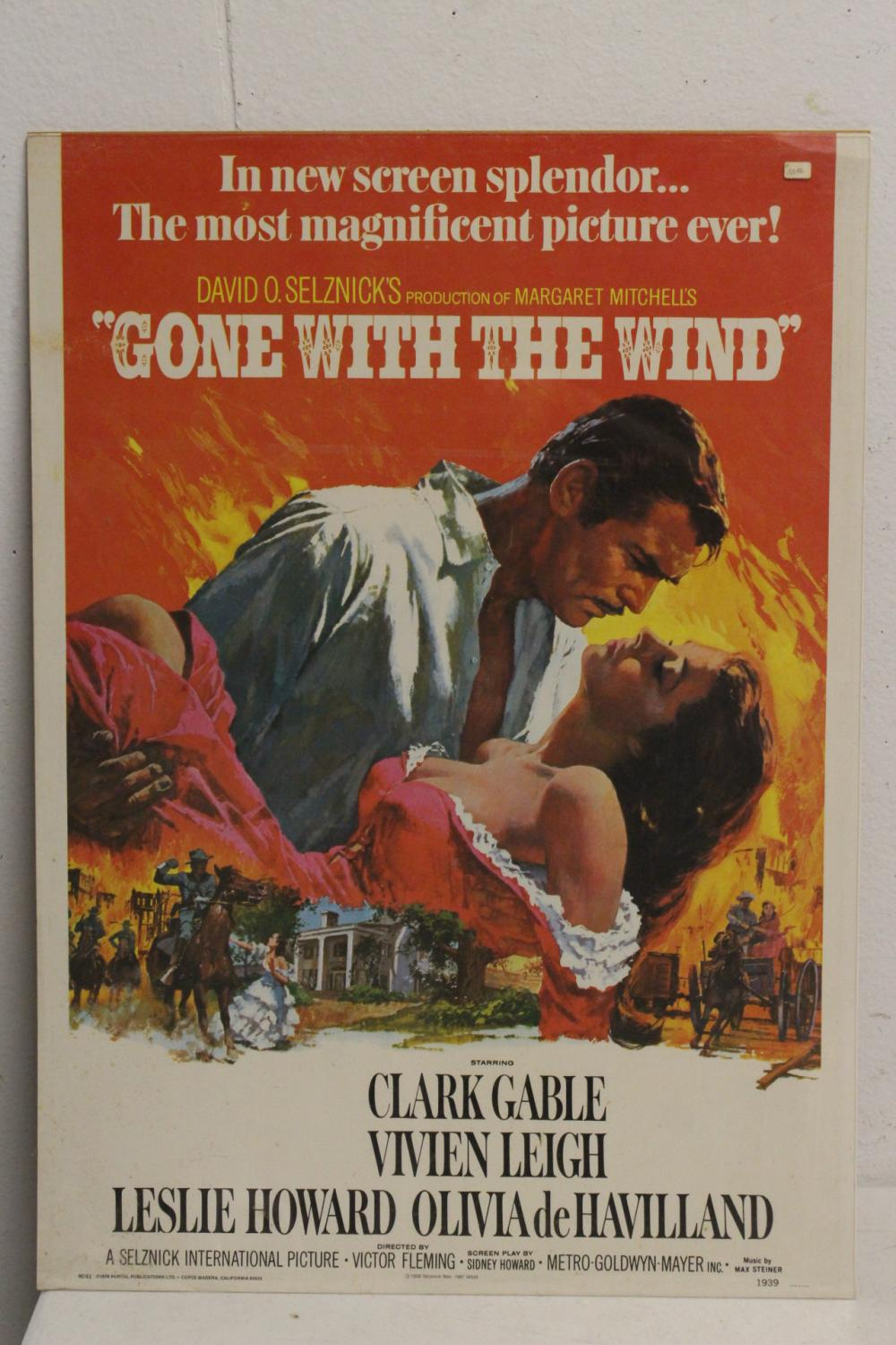 Lot 54: 3 vintage movie posters, and a advertisement panel