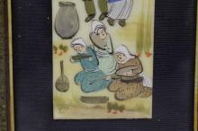 Lot 177: Painting on celluloid with inlay frame