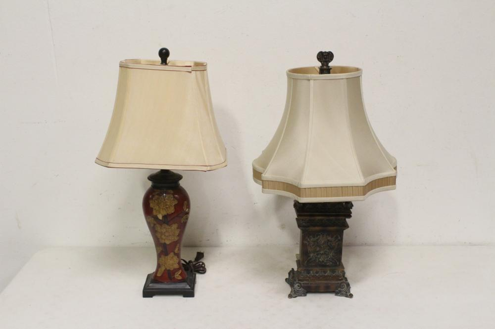 Lot 67: 2 fancy table lamps