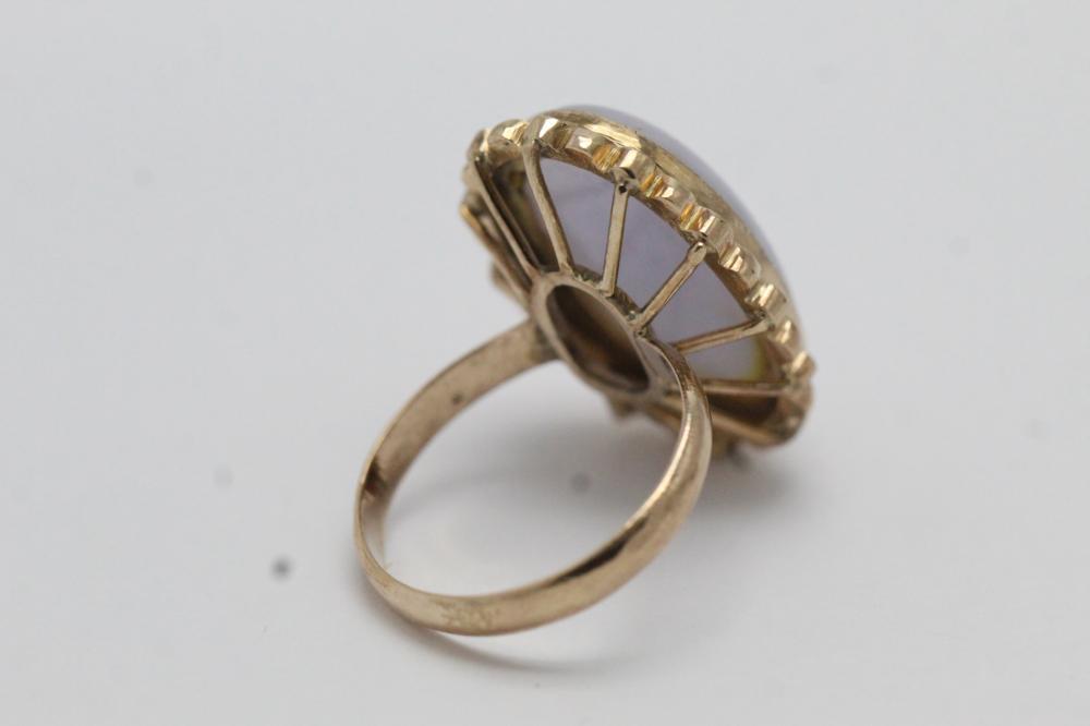 Lot 211: 14K jadeite ring