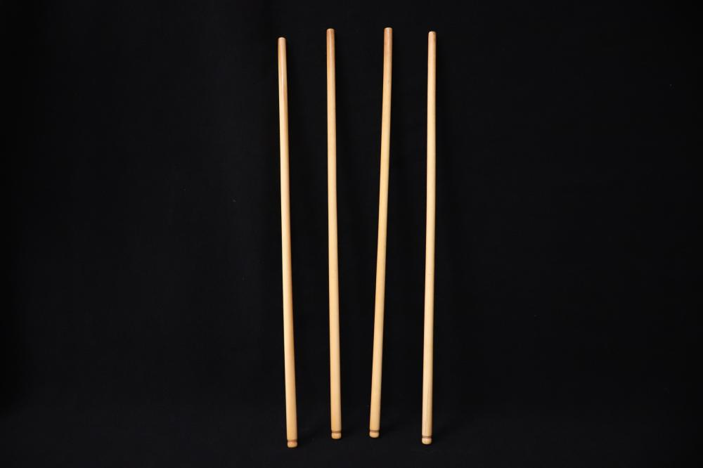 4 Chinese 19th c. bone carved knitting needles