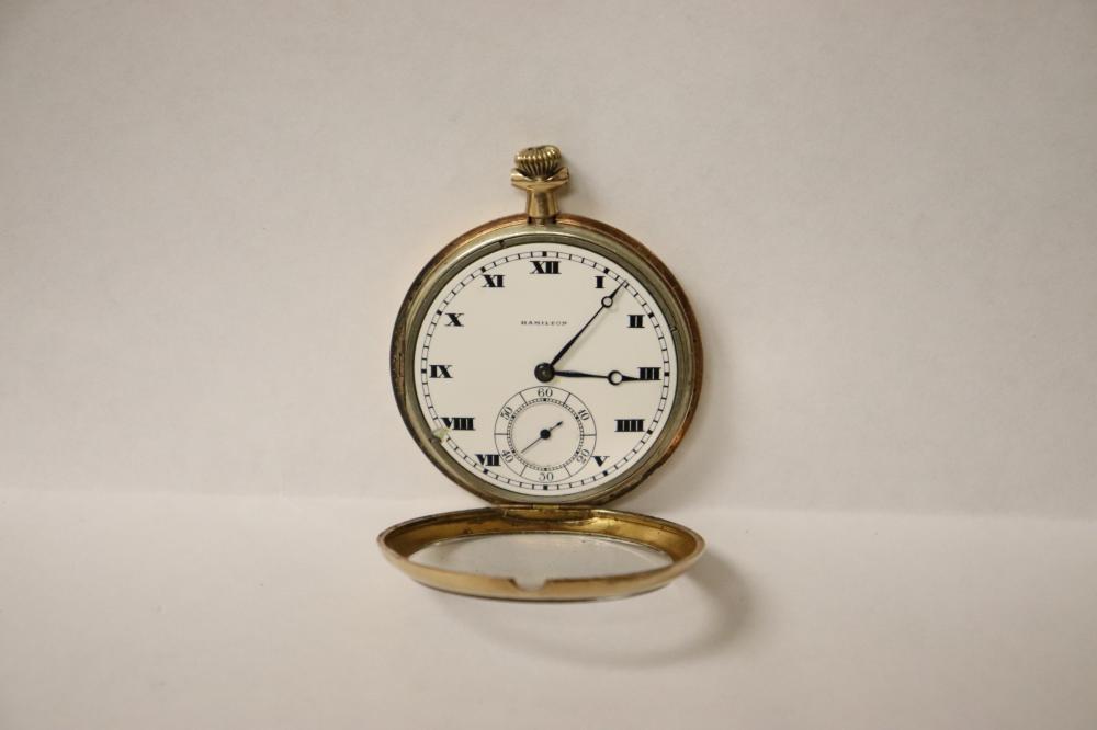 Lot 215: Hamilton 17-jewel pocket watch