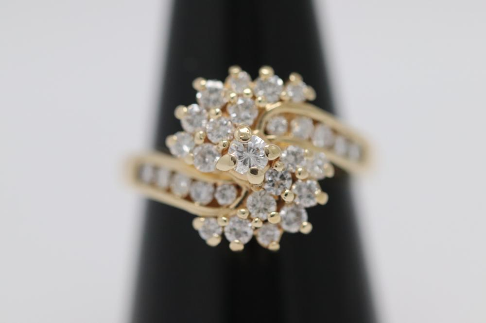 14K Y/G diamond cocktail ring