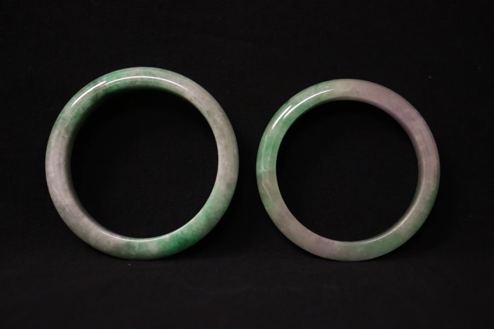 2 jadeite bangles