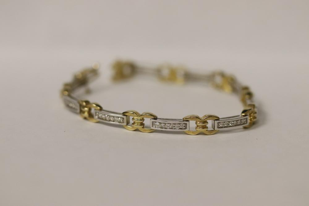 14K W/G and Y/G diamond bracelet