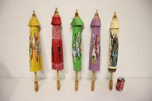 Lot 52: 5 Asian umbrella