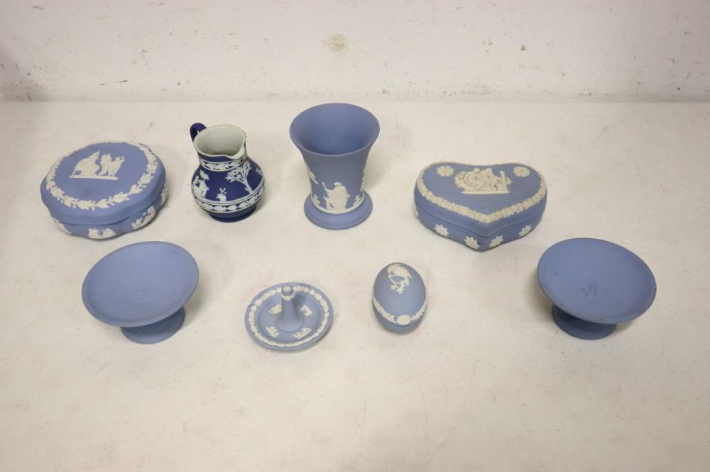 8 pieces Wedgwood bisque wares
