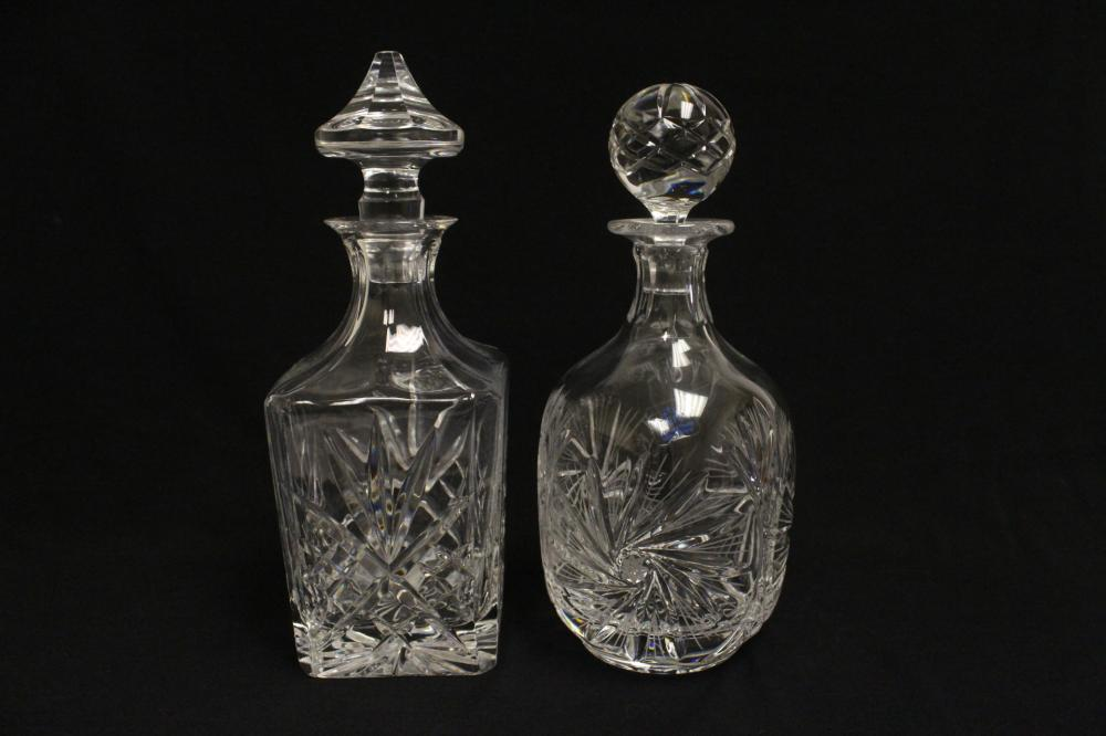 Lot 58: 4 crystal decanters