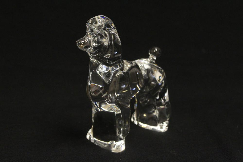 Lot 60: Baccarat poodle