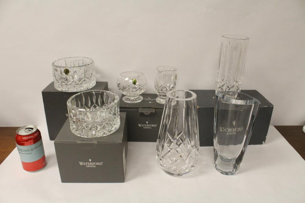 6 piece crystal vases/bowls