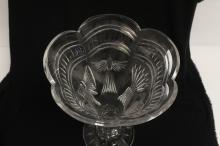 Lot 64: Large European crystal vase