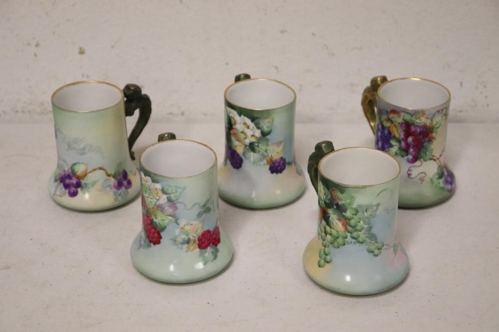 Lot 65: Lot of Limoge porcelain fancy glasses