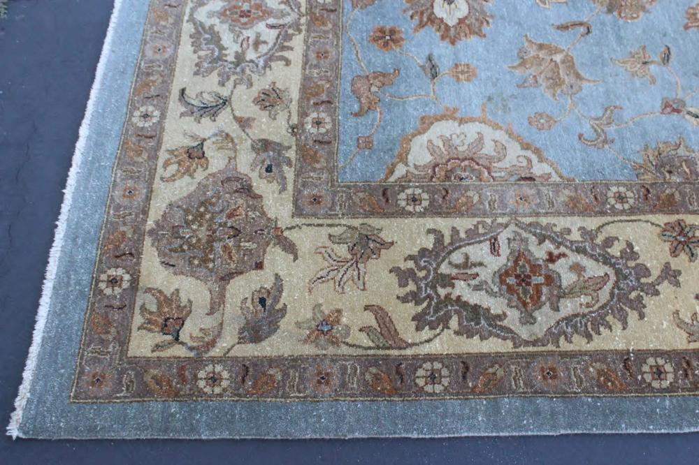 Lot 163: Palace size handmade thick wool rug
