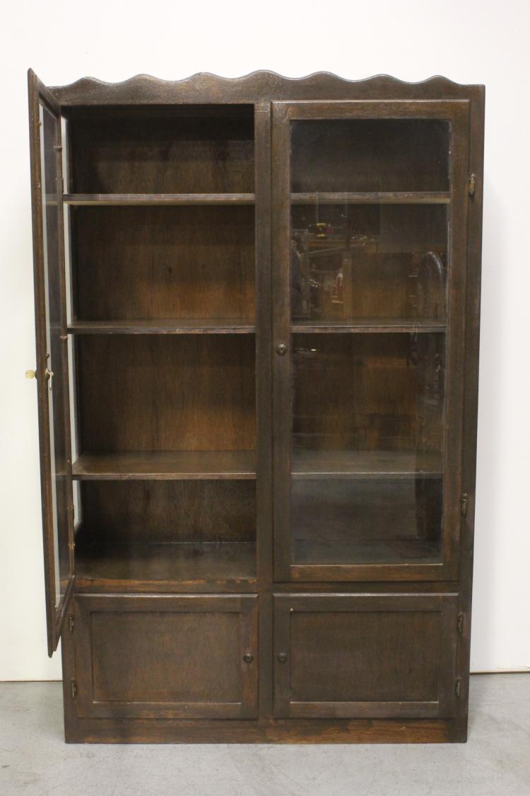 Victorian Double Door Display Case