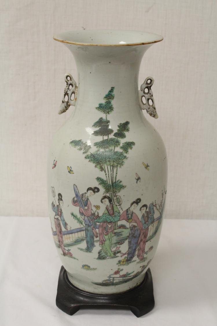 Chinese antique famille rose porcelain vase for Asian antiques uk