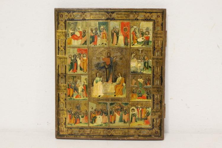 18th/19th c. Russian hand painted icon