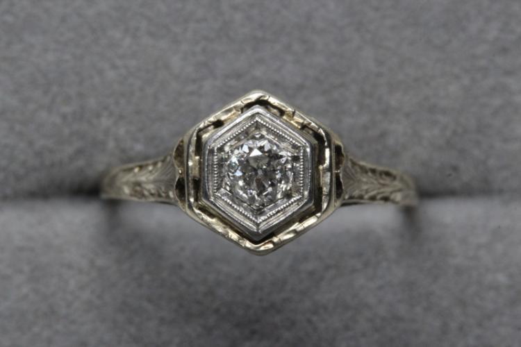 Victorian 14K diamond ring