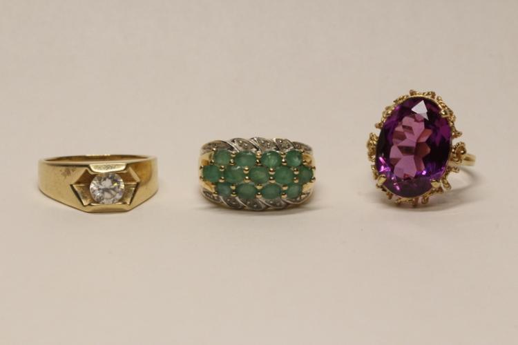 Three 10K Y/G rings