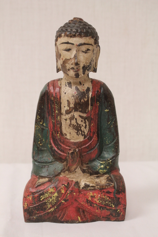 Korean painted wood sculpture