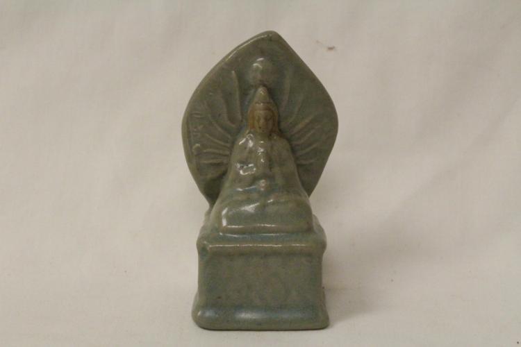 Korean antique celadon porcelain statue