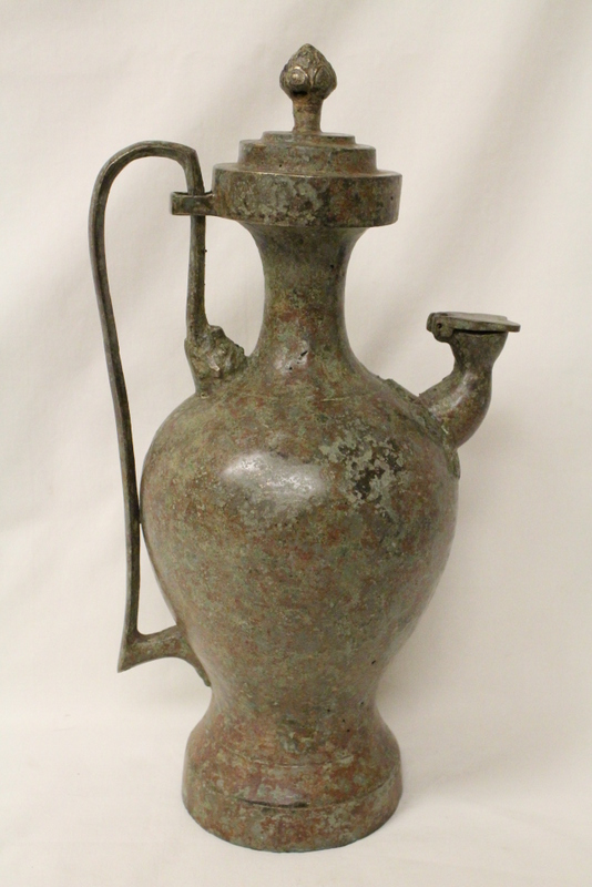 Korean bronze wine server