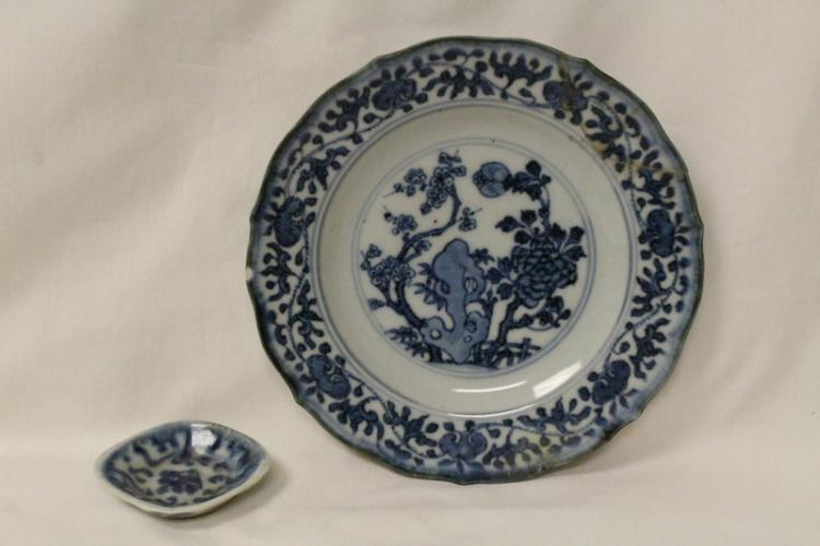 Korean 18th/19th c. blue and white small dish