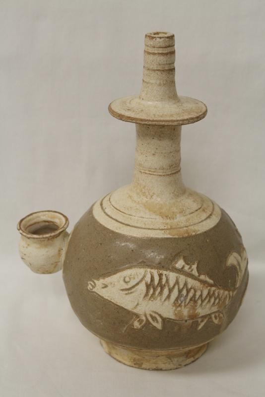 A rare Korean 18th/19th century temple oil jar