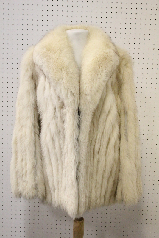Vintage lady's snow fox half length coat