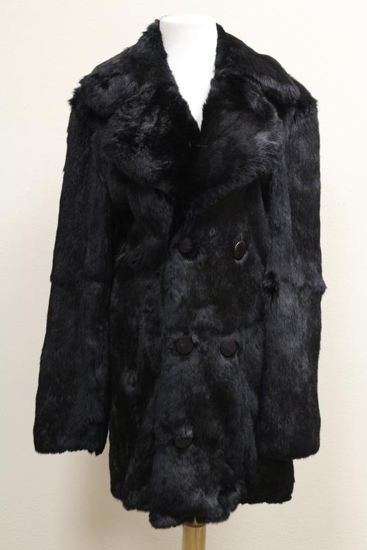 A rare lady's black beaver 3/4 length coat