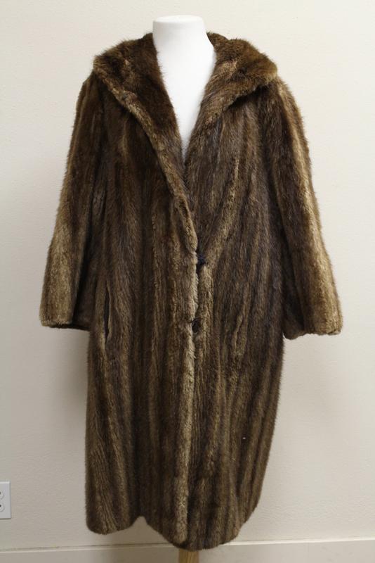 Lady's full length mink coat