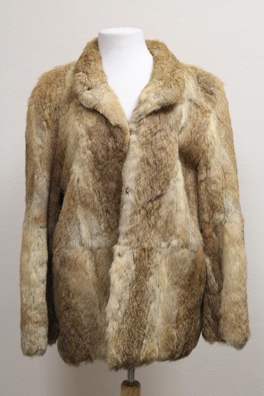 A fine lady's half length rabbit fur coat