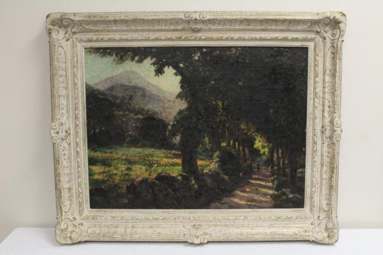 19th century oil on canvas, not signed