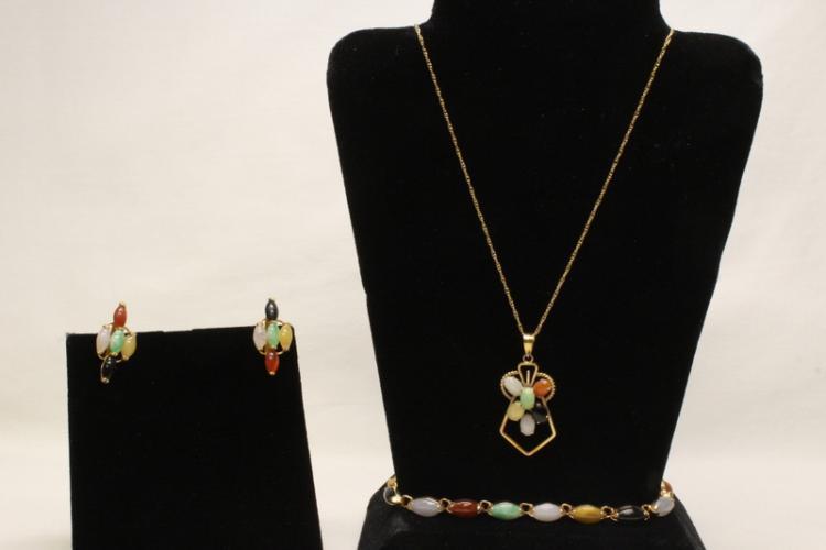 Jadeite jewelry suite