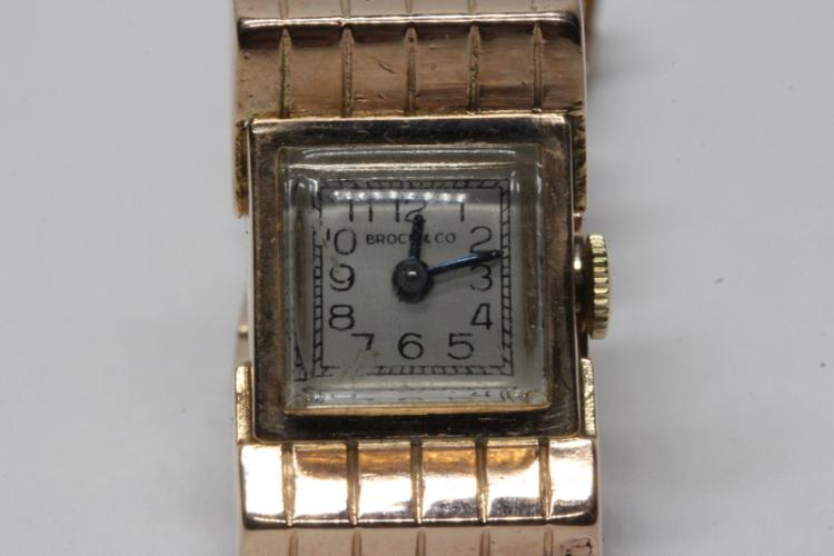 14K lady's retro rose gold wrist watch