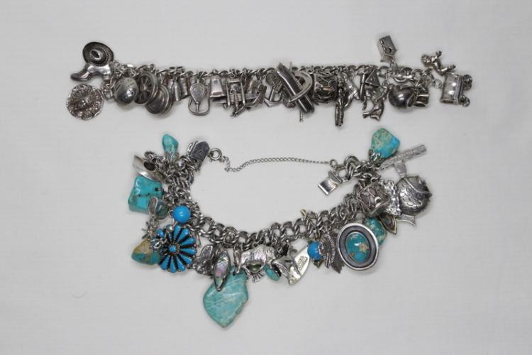 2 sterling charm bracelets
