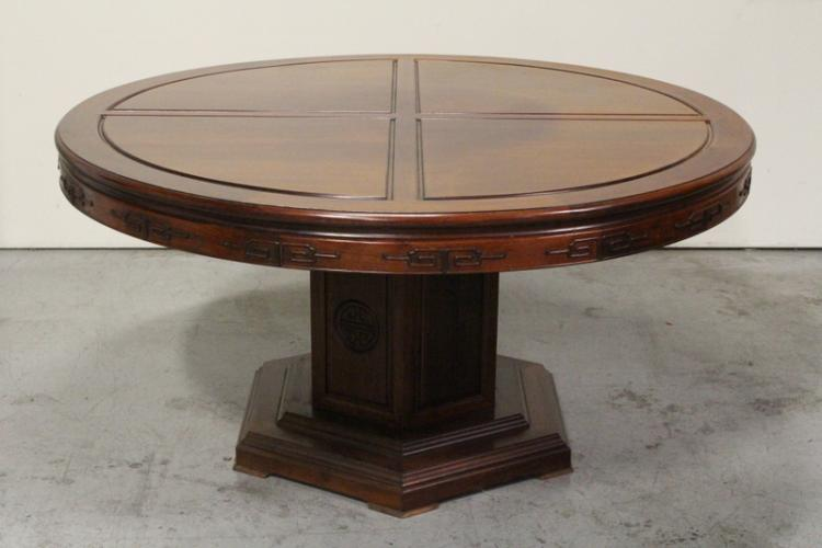 Large Chinese round rosewood table