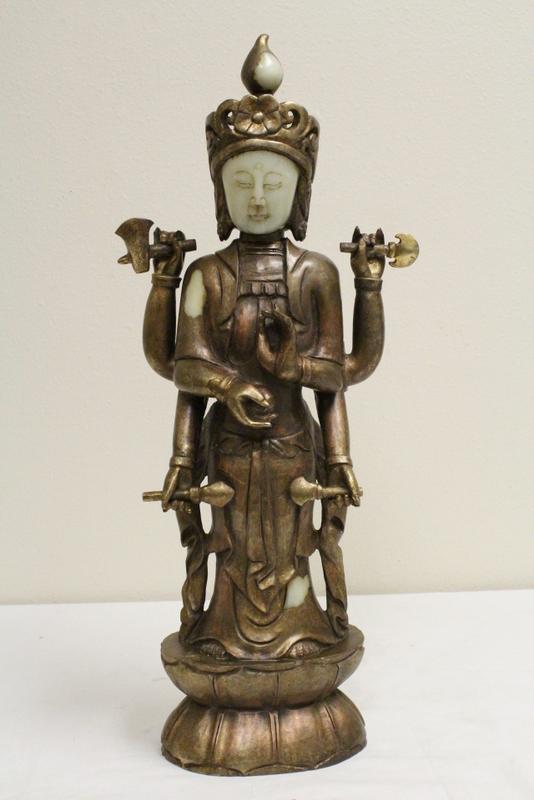 Chinese gilt shoushan stone carved Buddha